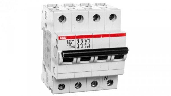 Wyłącznik nadprądowy 3P D 0,5A 6kA AC S203-D0,5 NA 2CDS253103R0981