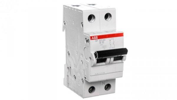 Wyłącznik nadprądowy 1P+N B 10A 6kA AC SH201-B10 NA 2CDS211103R0105