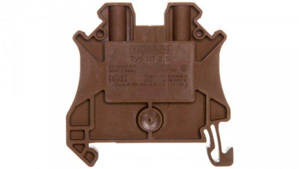 Złączka szynowa 2-przewodowa 2,5mm2 brązowa Ex UT 2,5 BN 3044077 /50szt./