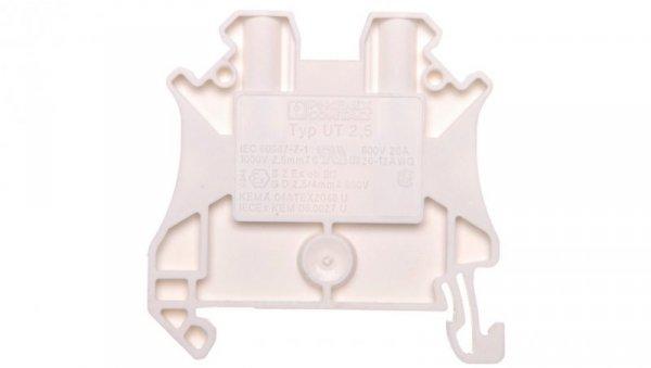 Złączka szynowa 2-przewodowa 2,5mm2 biała Ex UT 2,5 WH 3045075 /50szt./