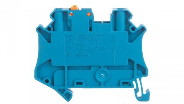 Złączka przelotowa 2-przewodowa z odłącznikiem nożowym 2,5mm2 niebieska UT 2,5-MT P/P BU 3046566 /50szt./