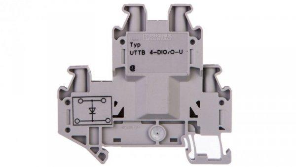Złączka szynowa elementów kontrolnych 2-piętrowa 4-przewodowa 2,5mm2 szara UTTB 4-DIO/O-U 3046809 /50szt./