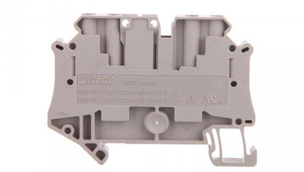 Złączka szynowa rozłączalna 4-przewodowa 4mm2 szara UT 4-QUATTRO-TG 3064027 /50szt./