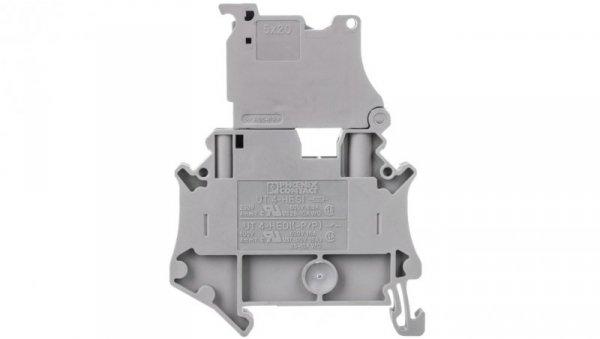 Złączka szynowa z bezpiecznikiem 5x20 6,3A 2-przewodowa 4mm2 szara UT 4-HESI (5X20) 3074169