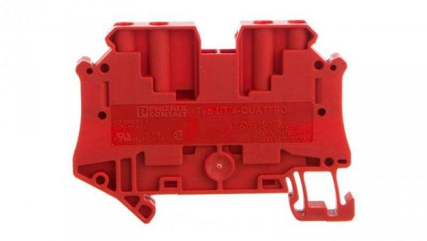 Złączka szynowa 4-przewodowa 4mm2 czerwona Ex UT 4-QUATTRO RD 3074460 /50szt./