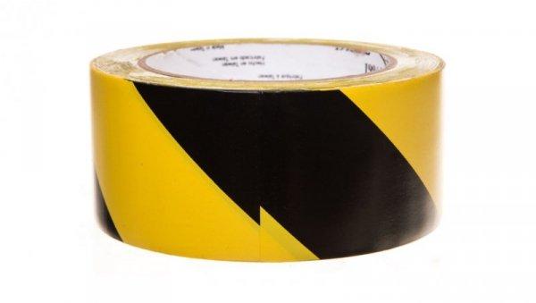 Taśma winylowa z klejem kauczukowym 50mm x 33m żółto-czarna 766L 70006299831/7100015263