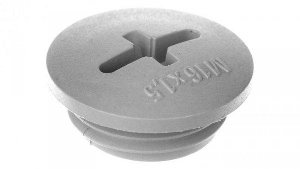 Zaślepka poliamidowa M16 IP54 SKINDICHT BLK-GL-M 16x1,5 ciemnoszara 52006111 /100szt./