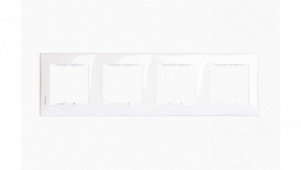 Sedna Ramka poczwórna biała pionowa SDN5802021