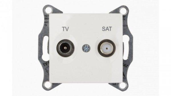 Sedna Gniazdo antenowe TV/SAT końcowe 1dB kremowe SDN3401623