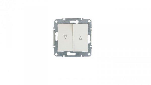 Sedna Łącznik żaluzjowy 2-biegunowy z blokadą elektryczną 10A biały SDN1300321