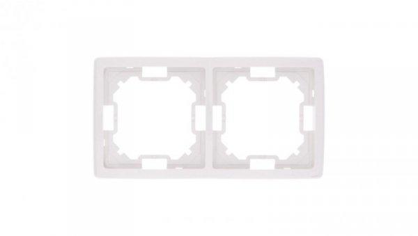 Simon Basic Standard Ramka podwójna uniwersalna biała BMR2/11