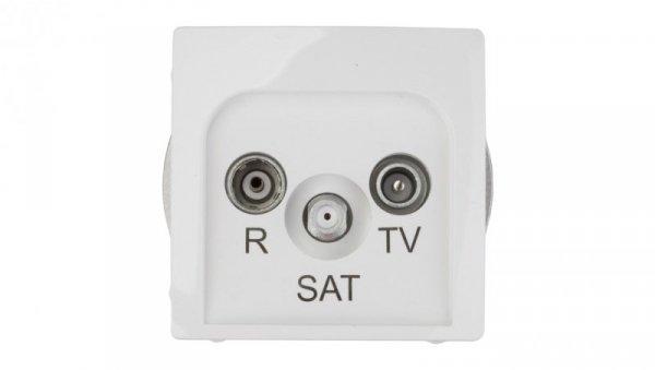 Simon Basic Gniazdo antenowe RD/TV/SAT przelotowe białe BMZAR-SAT10/P.01/11 RD/TV/SAT