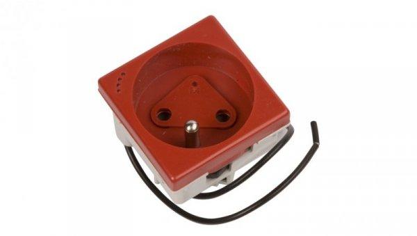 Simon Connect Gniazdo K45 pojedyncze DATA z/u 16A IP20 z kluczem uprawniającym i wskaźnikiem zasilania czerwone KLS02/6