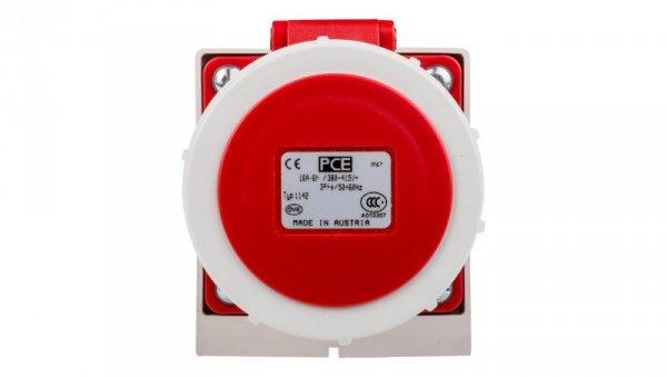 Gniazdo stałe 16A 4P 400V czerwone IP67 /bez dławnicy/ 1142-6