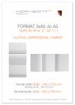 ulotka 3xA5 składana do A5, druk pełnokolorowy obustronny 4+4, na papierze kredowym, 170 g, 10000 sztuk