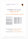 ulotka A3 składana do A4, druk pełnokolorowy obustronny 4+4, na papierze kredowym, 170 g, 250 sztuk