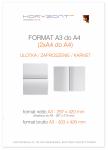 ulotka A3 składana do A4, druk pełnokolorowy obustronny 4+4, na papierze kredowym, 170 g, 2500 sztuk