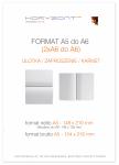 ulotka A5 składana do A6, druk pełnokolorowy obustronny 4+4, na papierze kredowym, 130 g, 2500 sztuk