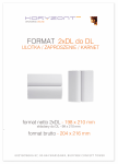 ulotka 2xDL składana do DL, druk pełnokolorowy obustronny 4+4, na papierze kredowym, 130 g, 5000 sztuk ! Cena promocyjna