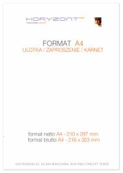 ulotka A4, druk pełnokolorowy obustronny 4+4, na papierze kredowym, 170 g, tryb ekspres 250 sztuk