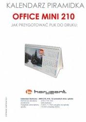 kalendarz biurkowy Mini 210 - spiralowany 13 autorskich kart jednostronnych, 210 x 110 mm - 400 sztuk
