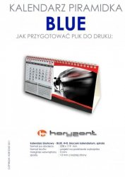 kalendarz biurkowy piramidka - BLUE - 900 sztuk