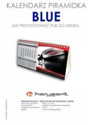 kalendarz biurkowy piramidka  - BLUE - 300 sztuk