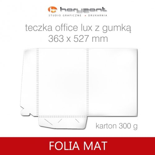 Office lux z gumką - folia mat