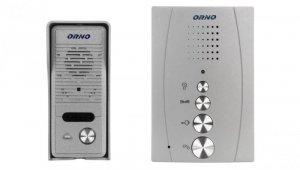 Zestaw domofonowy jednorodzinny bezsłuchawkowy ELUVIO srebrny OR-DOM-RE-914/G