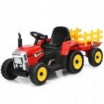 Traktor elektryczny z przyczepką dla dzieci