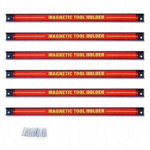 Listwa magnetyczna na narzędzia 46cm 6 szt.