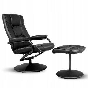 Fotel obrotowy z podnóżkiem