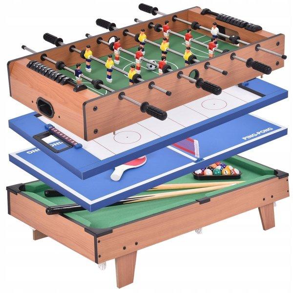 Zestaw do gry w piłkarzyki bilard tenis stołowy hokej