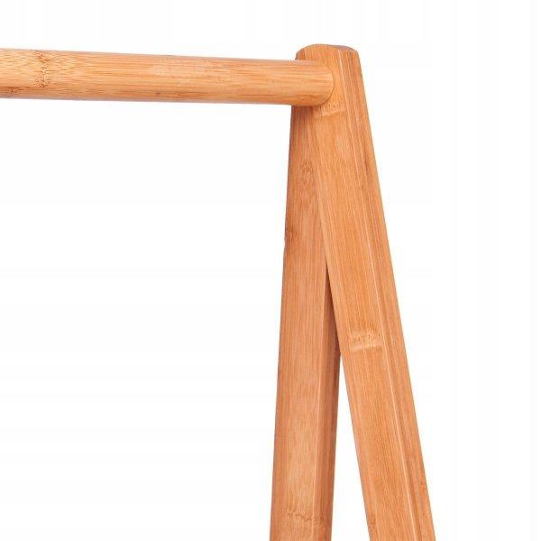 Bambusowy stojak wieszak na ubrania