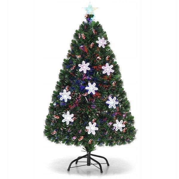 Sztuczna choinka świąteczna z światłami led 120cm