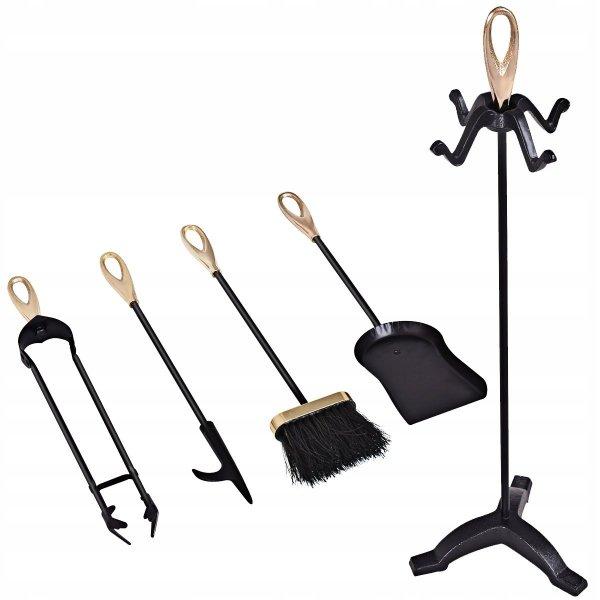 Zestaw 5 akcesoriów przyborów kominkowych