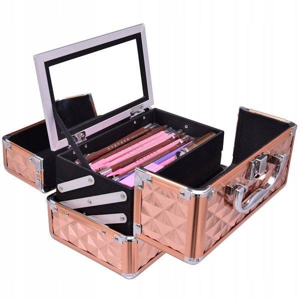 Kuferek kosmetyczny na kosmetyki lakiery