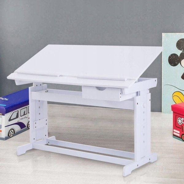 Biurko szkolne stół kreślarski dla dziecka white
