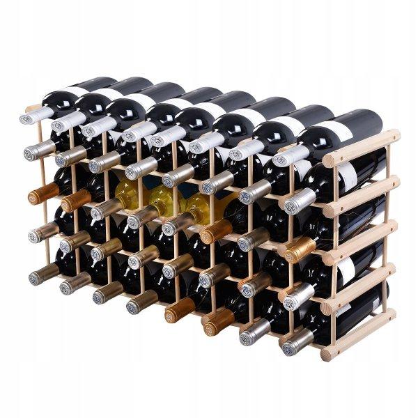 Drewniany regał stojak na wino na 40 butelek