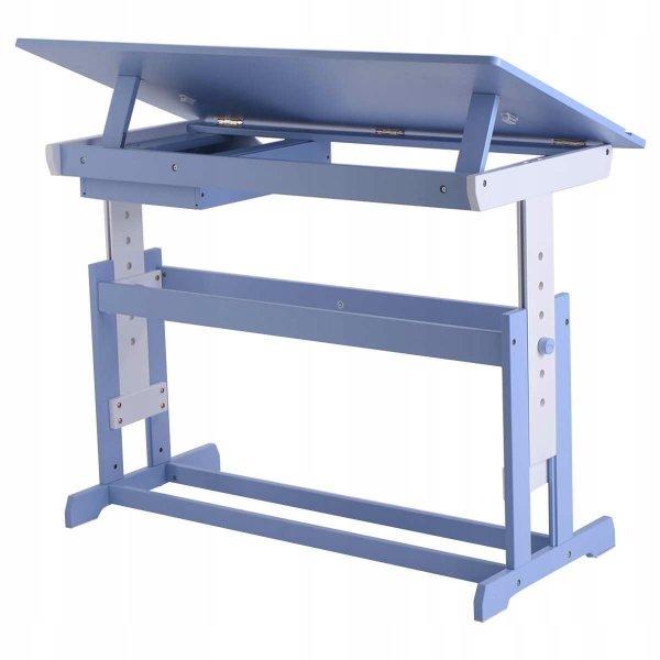 Biurko szkolne stół kreślarski dla dziecka blue