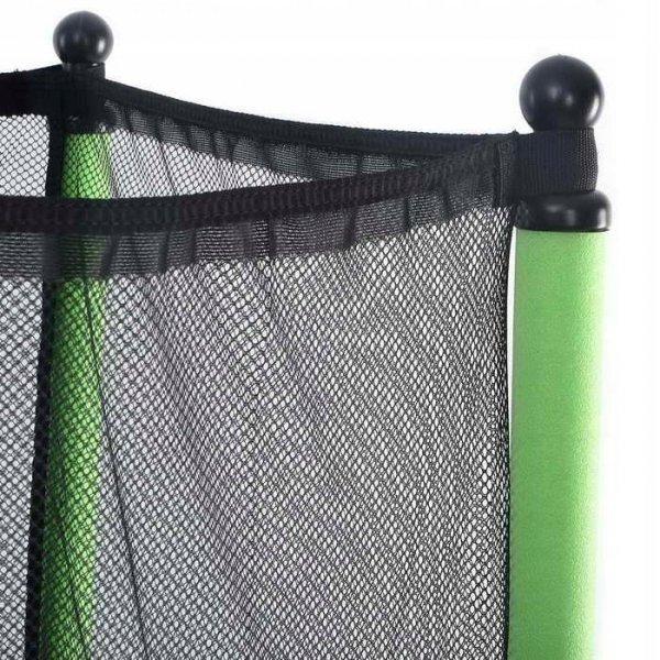 Trampolina dla dzieci z siatką i klapą 140 cm