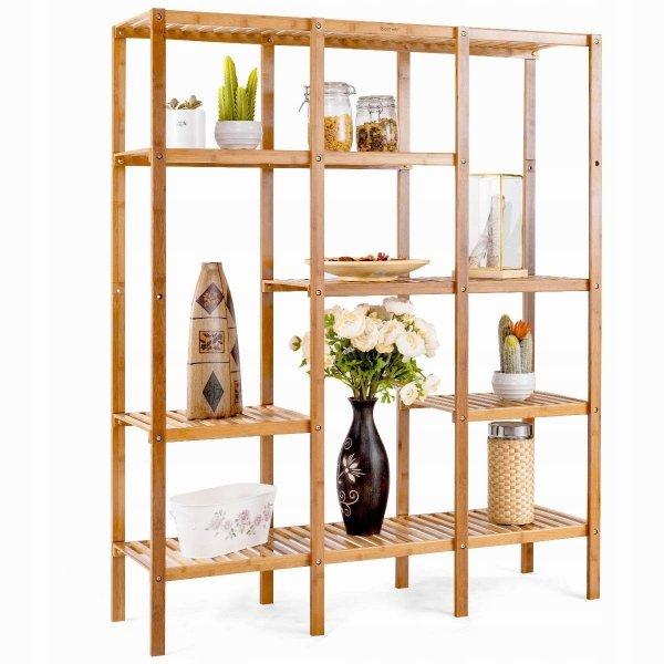 Regał pokojowy bambusowy 5 półek