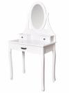 Toaletka kosmetyczna z lustrem + taboret 3 szuflady