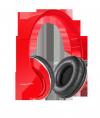 Słuchawki przewodowe nauszne Kruger&Matz model Street , kolor czerwony