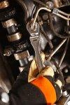 Klucz oczkowy półotwarty z przegubem 13 mm
