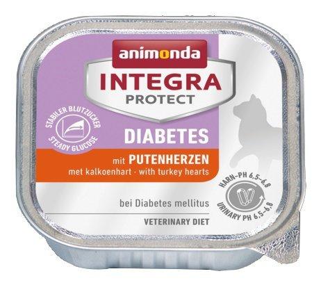 Animonda Integra Protect Diabetes dla kota - z sercami indyka tacka 100g