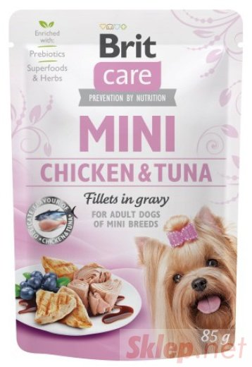 Brit Care Dog Mini Chicken & Tuna saszetka 85g