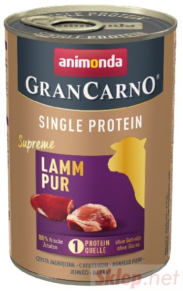 Animonda GranCarno Single Protein Jagnięcina puszka 400g