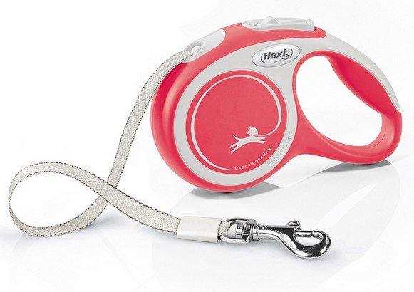 Flexi New Comfort Smycz taśma XS 3m czerwona [FL-3424]