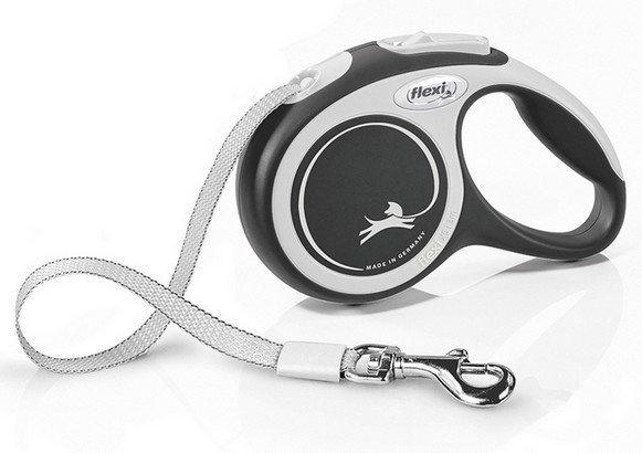 Flexi New Comfort Smycz taśma XS 3m czarna [FL-3448]